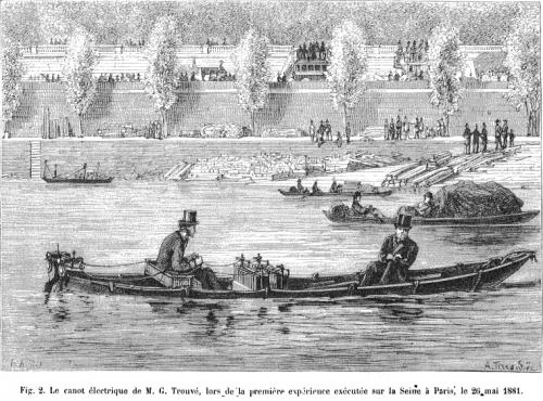 bateau electrique de Gustave Trouvé