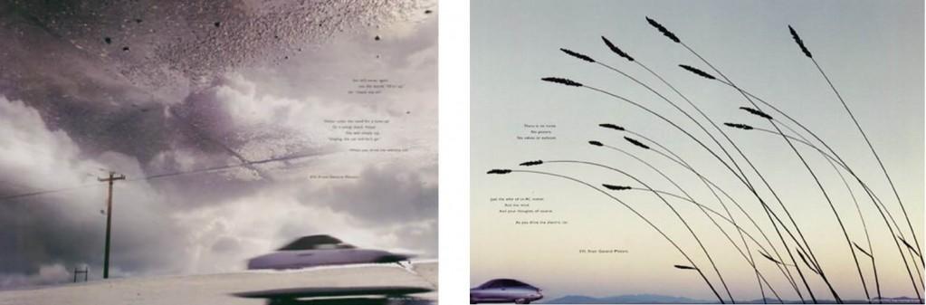 Exemple de publicité sur le véhicule électrique