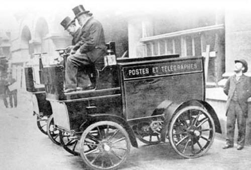 La voiture électrique postale de Mildé