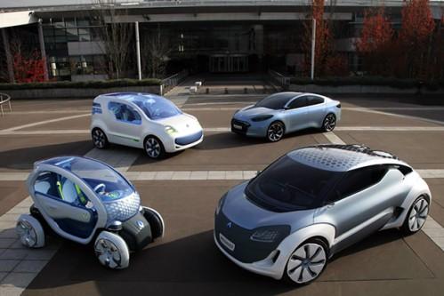 La gamme de vehicules electriques Renault pour le porjet SAVE