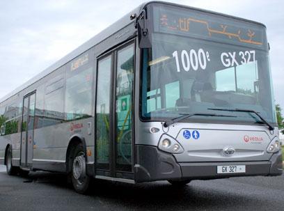 bus hybride lectrique au salon des transports publics