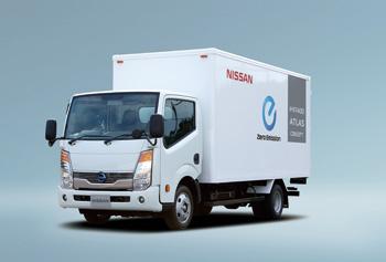 Le premier camion electrique de Nissan, le e-NT400