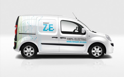 la r volution de l 39 utilitaire lectrique avec le renault kangoo ze voiture electrique. Black Bedroom Furniture Sets. Home Design Ideas