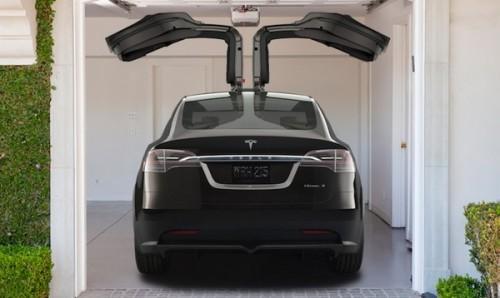 tesla model x le crossover lectrique r v l voiture. Black Bedroom Furniture Sets. Home Design Ideas