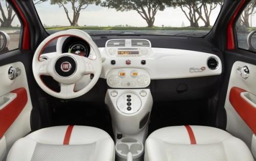 Intérieur de la Fiat 500 électrique