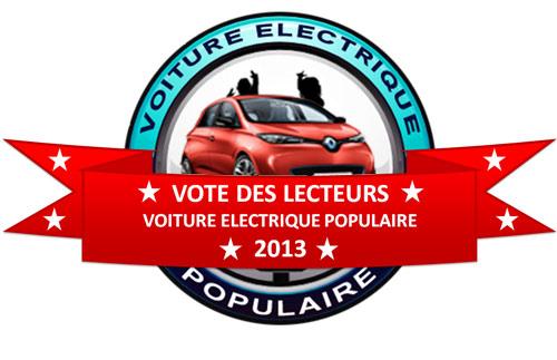 La Renault Zoe ZE élue voiture électrique popualire de l'année 2013