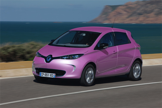 renault zoe rose voiture electrique. Black Bedroom Furniture Sets. Home Design Ideas