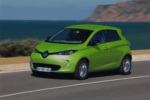 renault zoe vert voiture electrique. Black Bedroom Furniture Sets. Home Design Ideas