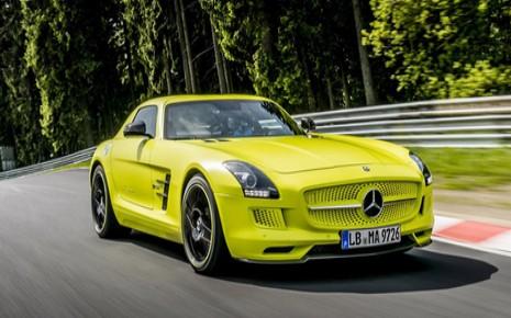 La Mercedes SLS AMG a battu la record vitesse pour une voiture électrique