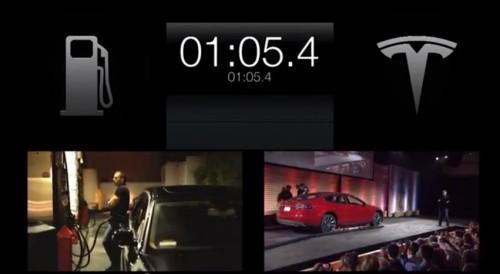 La présentation de l'échange de batterie pour voitures électriques Tesla