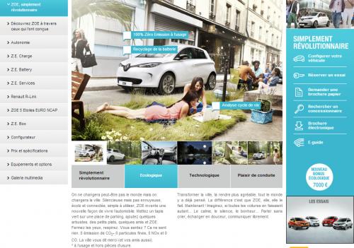 Renault Zoe ZE : voiture écologique