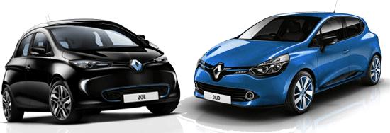 La Renault zoe ze vs la Clio IV