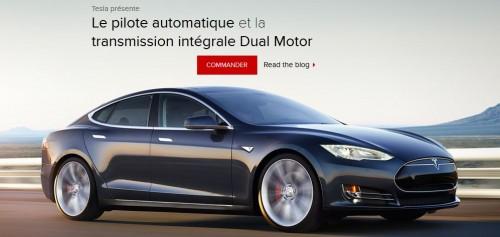 La Tesla Model S version D : 4x4 électrique et autonome