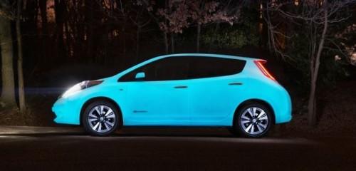 Nissan Leaf phosphorescente