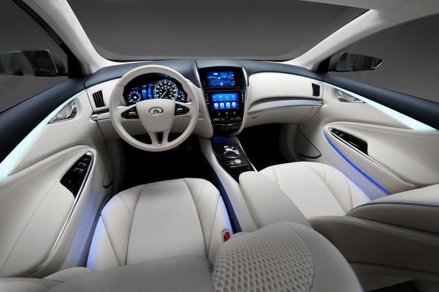 Infiniti le le luxe lectrique sur base nissan leaf for Interieur voiture de luxe