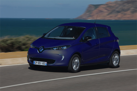 renault zoe bleu marine voiture electrique. Black Bedroom Furniture Sets. Home Design Ideas