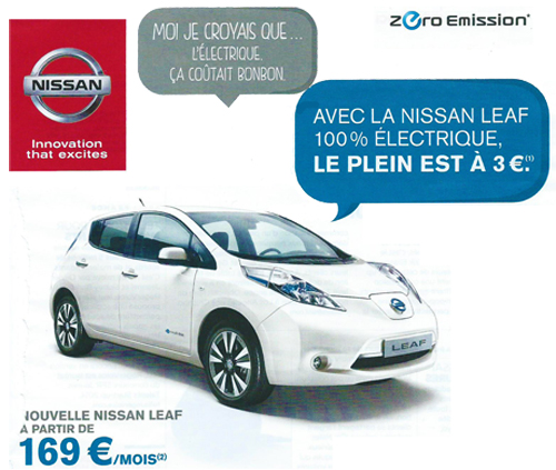 l 39 offre de location de la nissan leaf 169 mois voiture electrique. Black Bedroom Furniture Sets. Home Design Ideas
